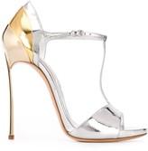 Casadei Metallic High Heel Sandals