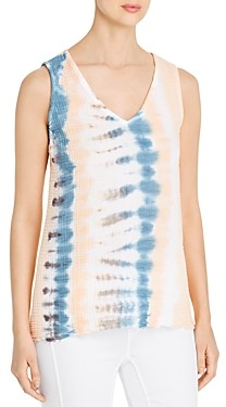 XCVI Braden Printed Puckered Gauze Tank Top