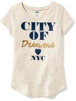 Old Navy Graphic Crew-Neck Tee for Girls