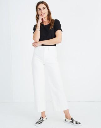 Madewell Tall Emmett Wide-Leg Crop Jeans in Tile White