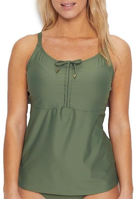 Sunsets Olive Avery Underwire Tankini Top