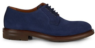 Aquatalia Roberto Weatherproof Embossed Suede Derby Shoes