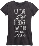 Instant Message Women's Women's Tee Shirts HEATHER - Heather Charcoal 'Let Your Faith' Relaxed-Fit Tee - Women