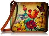 Anuschka Handpainted Leather 8058-FLG Shoulder Bag