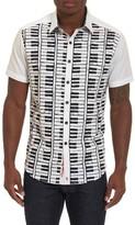 Robert Graham Men's Play The Keys Print Short Sleeve Sport Shirt