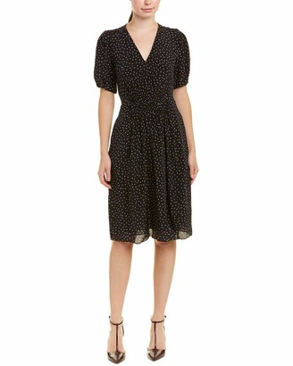 Rebecca Taylor Women's Short Sleeve Hummingbird Dress