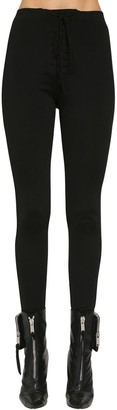 Unravel Lace-Up Jersey Leggings