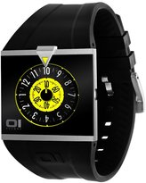 01 The One 01TheOne Unisex AN04G02 Analog Square Black and Yellow Fashion Watch