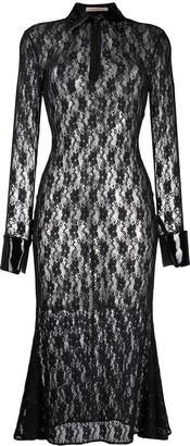 Christopher Kane Floral Lace Midi Dress