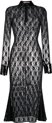 Christopher Kane Floral Lace Midi Dress