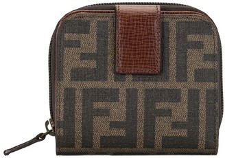 Fendi Pre Owned Zucca bifold zipped wallet