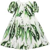 Dolce & Gabbana Peas Printed Cotton Poplin Dress