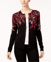 Karen Scott Petite Floral Cardigan, Created for Macy's
