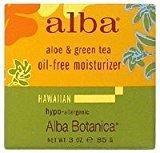 Alba Hawaiian Oil-Free Moisturizer, Aloe & Green Tea, 3 oz.