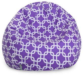 Majestic Home Goods Links Large Cotton Classic Bean Bag Chair, Multiple Colors
