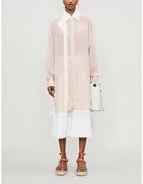 Loewe Contrast-trim oversized satin shirt
