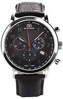 88 Rue du Rhone 87WA120047 Men's Chronograph Leather Strap Watch, Black