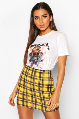 boohoo Tartan Check Mini Skirt