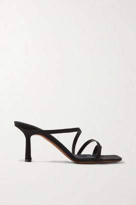 Neous Venus Faille Sandals - Black