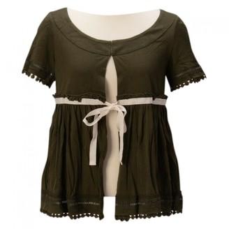 Comme des Garcons Green Cotton Top for Women