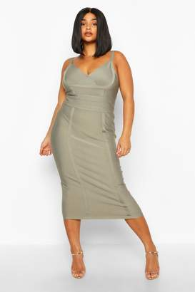 boohoo Plus Sculpting Bandage Midi Dress