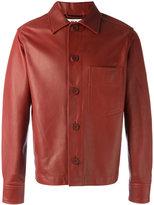 Marni boxy leather jacket - men - Cotton/Lamb Skin - 46
