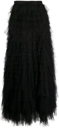 Yves Saint Laurent Pre Owned 1970s Tulle Maxi Skirt