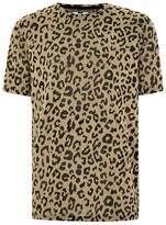 Topman Leopard Print Mesh T-Shirt