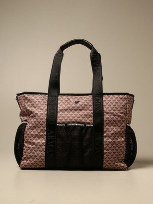 Emporio Armani Diaper Bag Mama's Bag In Nylon With Logo