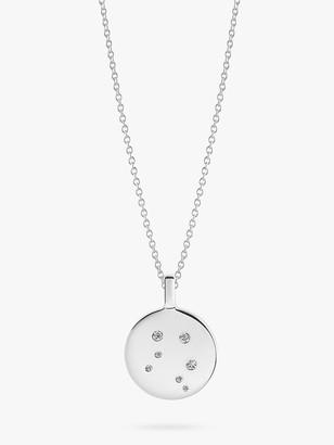 Sif Jakobs Jewellery Zodiaco Libra Cubic Zirconia Round Pendant Necklace