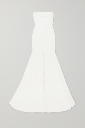 Alex Perry Jamie Strapless Satin-crepe Gown - White