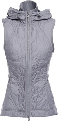 adidas by Stella McCartney + Adidas Quilted Shell And Stretch-jersey Hooded Vest