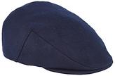 John Lewis Melton Wool Flat Cap, Blue