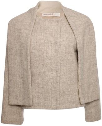 Humanoid Beige Wool Coat for Women