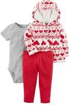 Carter's Baby Girl Heart Microfleece Hooded Jacket