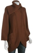 Marc by Marc Jacobs brown wool 'Anneka' long cardigan