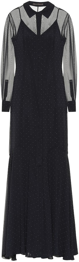 Max Mara Ugolina silk crepe dress