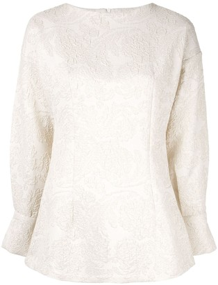 Bambah long-sleeved patterned top