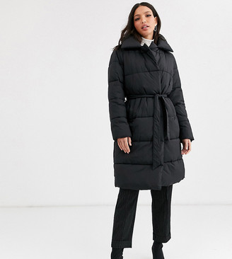 Y.A.S Tall Summer padded coat-Black