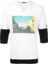 GUILD PRIME photographic layered T-shirt - men - Cotton - 1