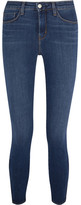 L'Agence Andrea High-rise Skinny Jeans - Dark denim