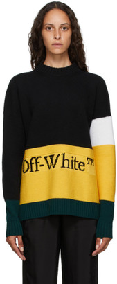 Off-White Black Color Block Crewneck