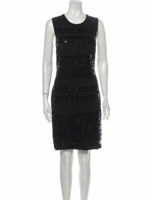 David Koma Crew Neck Knee-Length Dress Black