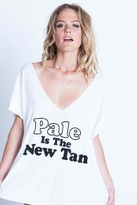 Local Celebrity Pale Is The New Tan Logan V-Neck in White