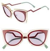 Fendi 49mm Cat Eye Sunglasses