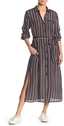 Lucky Brand Stripe Pocket Shirt Dress