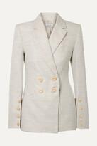 Rebecca Vallance Maya Cotton And Linen-blend Blazer