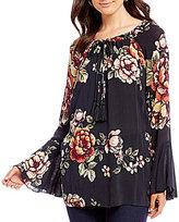 Miss Me Floral Printed Bell Sleeve Top