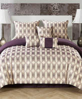 Idea Nuova Purple Bentham Jacquard Seven-Piece Comforter Set
