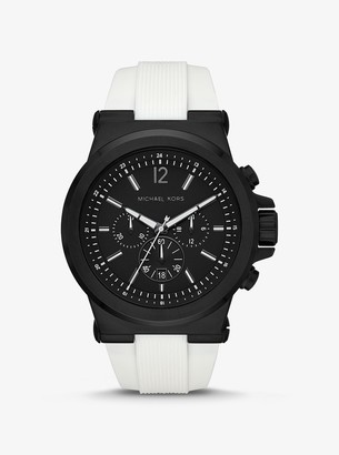 Michael Kors Oversized Dylan Black-Tone and Silicone Watch